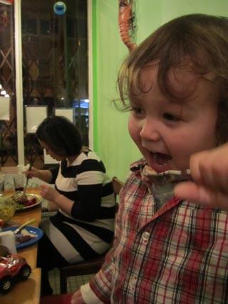 taiyo eating turkey