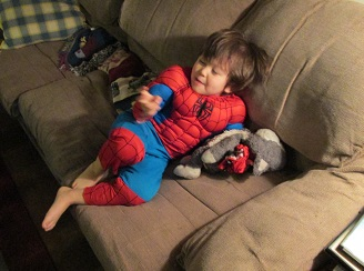 spider man at christmas