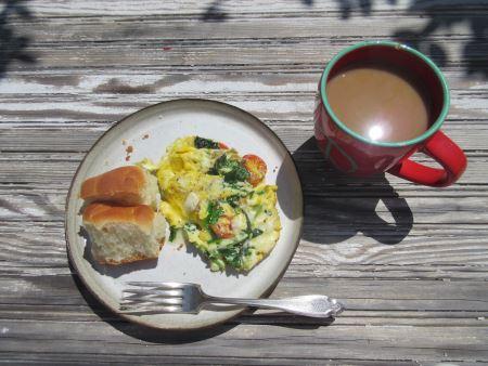 arugula omelette